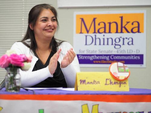 Manka Dhingra applauds