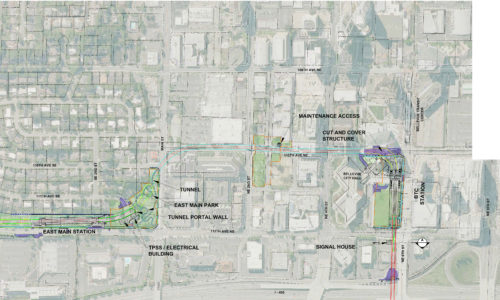 Sound Transit's Downtown Bellevue East Link alignment