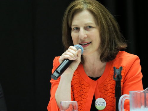 Kim Schrier addresses the Washington State Democratic Convention
