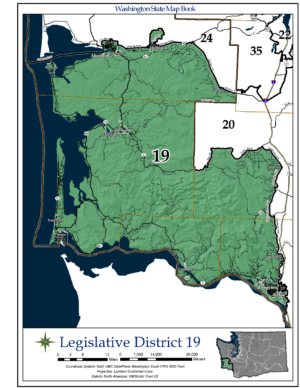 Outline of the 19th Legislative District