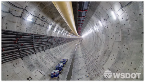 Still image of the new SR 99 Tunnel provided by WSDOT