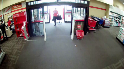 Tim Eyman steals a chair from Office Depot