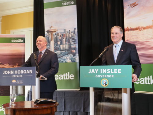 Jay Inslee and John Horgan