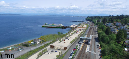 LMN rendering of new Mukilteo multimodal terminal