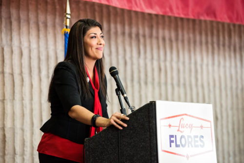 Lucy Flores speaking in Nevada