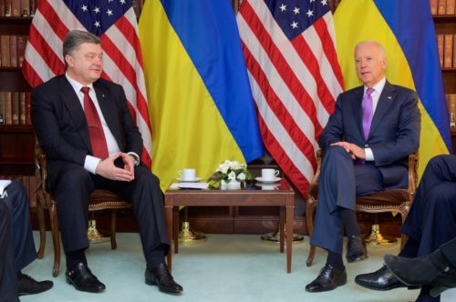 Joe Biden with Petro Poroshenko