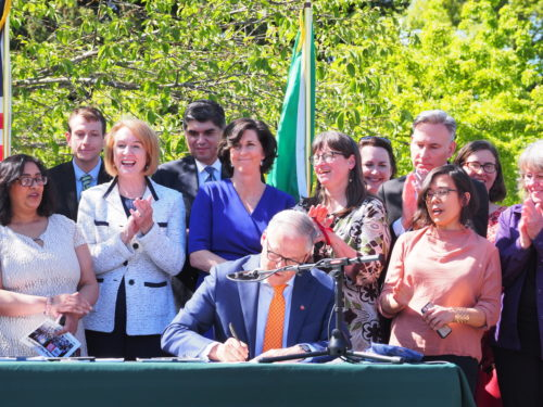 Governor Jay Inslee signs landmark environmental protection legislation