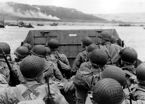 U.S. troops landing at Normandy
