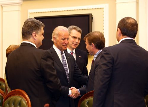 Joe Biden with Ukranian officials