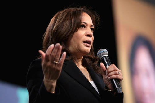 Kamala Harris speaking