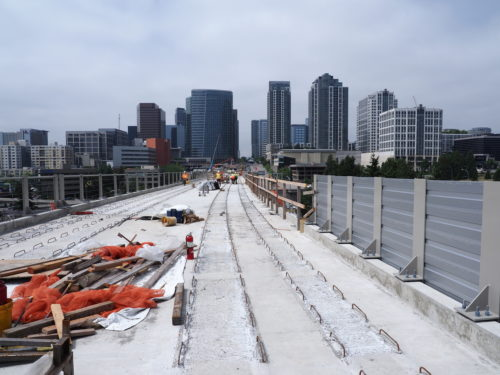 View of Bellevue from I-405 East Link alignment