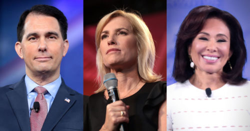 Scott Walker, Laura Ingraham, Jeanine Pirro