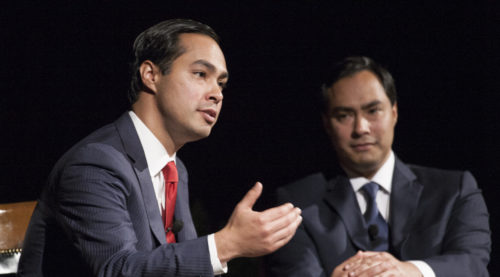 Julián and Joaquin Castro at the LBJ Library