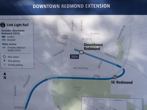 Map of the Downtown Redmond Link extension