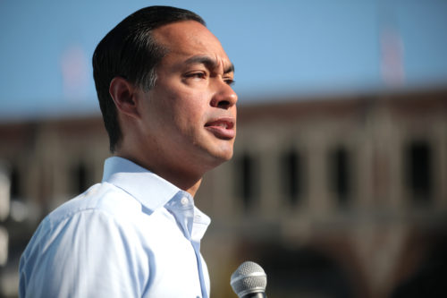 Julián Castro campaigns during the 2019 Iowa State Fair