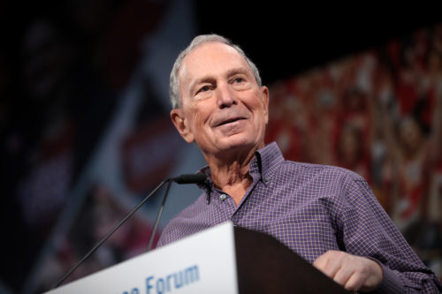 Michael Bloomberg speaks at the Presidential Gun Safety forum