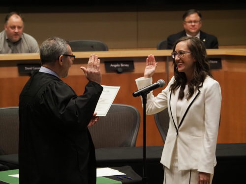 Jessica Forsythe's swearing-in