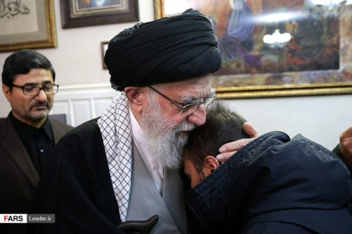 Iran's Supreme Leader comforts relatives of General Soleimani. The two men were reportedly personal friends.