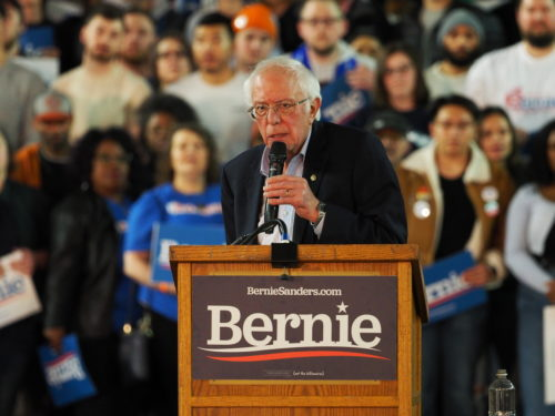 Bernie Sanders on the stump