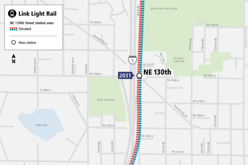 Map of NE 130th infill station