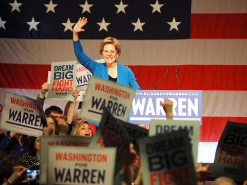 Elizabeth Warren concludes her February 2020 Seattle rally