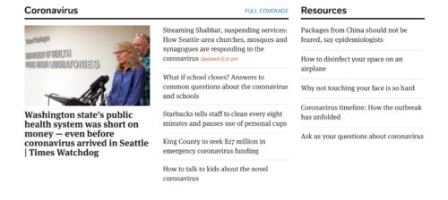 Seattle Times coronavirus coverage