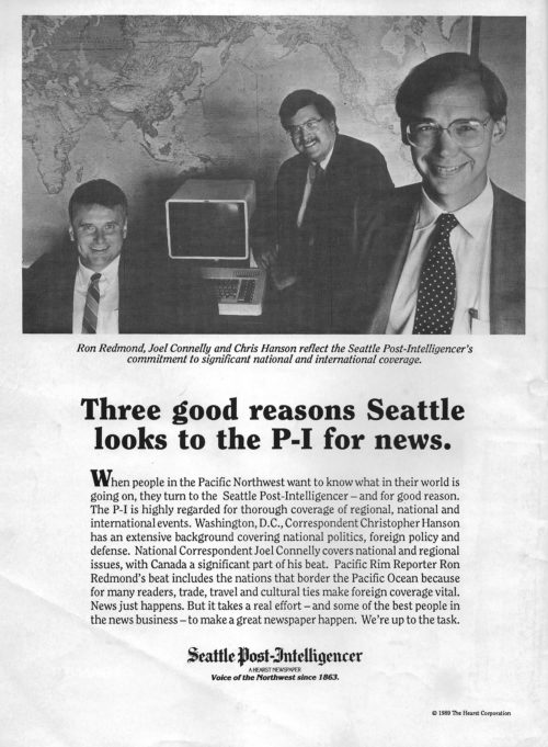 A 1989 advert in Editor & Publisher