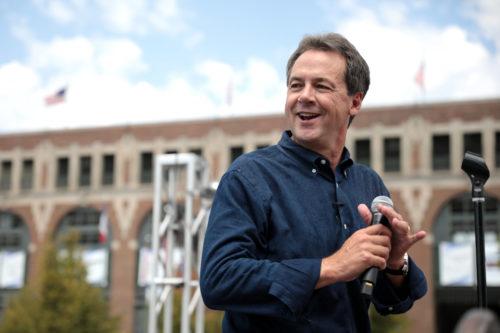 Steve Bullock campaign in Iowa during the Democratic presidential primaries