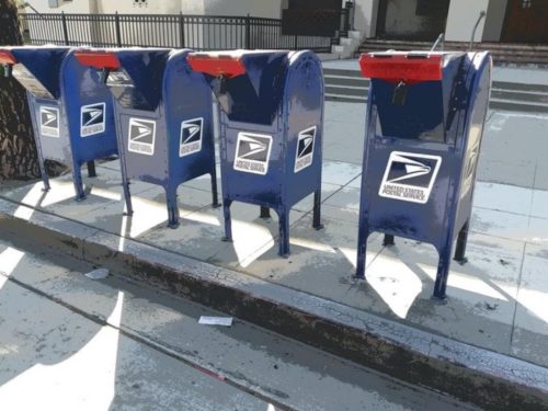 Locked mailboxes in Burbank