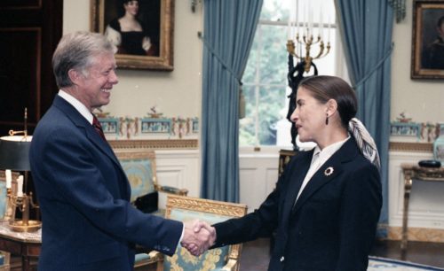 RBG with President Carter