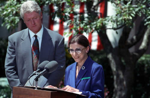 RBG with President Clinton
