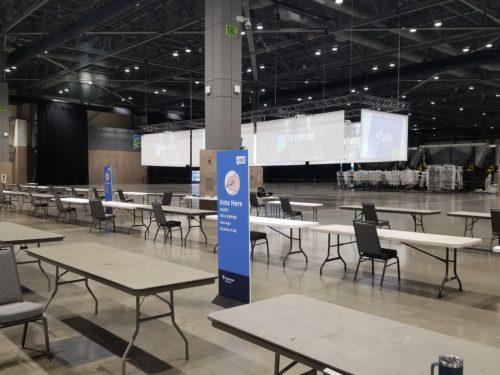 King County Vote Center Voting Desks