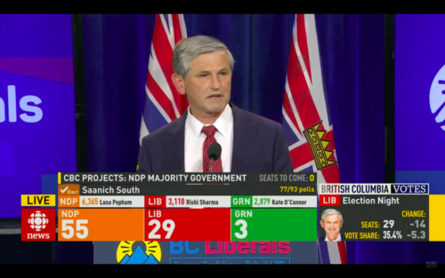 Andrew Wilkinson speaking after snap election
