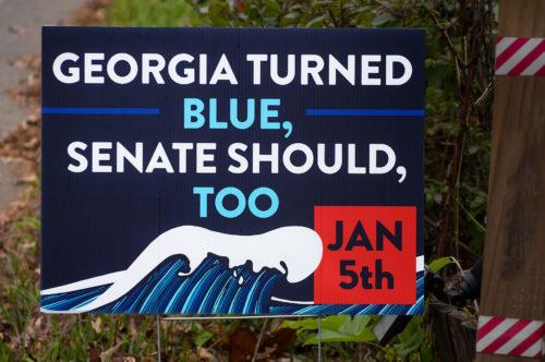 Sign in Georgia: Georgia turned blue, Senate should too