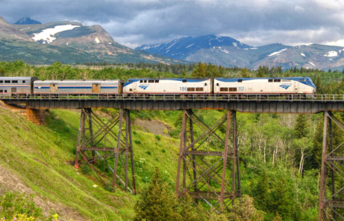 Amtrak's Empire Builder in Montana