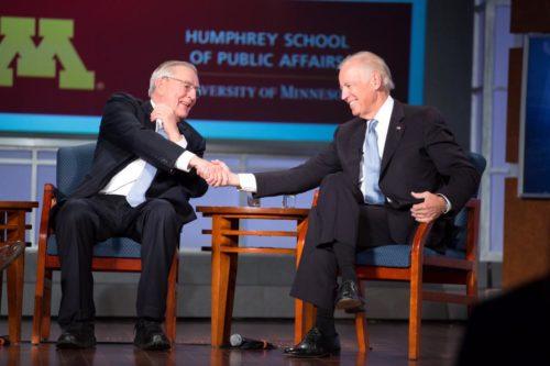 Vice Presidents Walter Mondale and Joe Biden