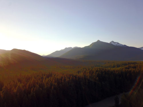 A slice of the Tongass, seen from the Mendenhall Valley