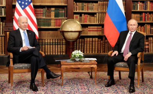 Joe Biden and Vladimir Putin in Geneva
