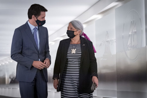 Justin Trudeau with Mary Simon