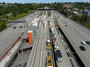 Judkins Park Station, view one (East Link aerial tour)