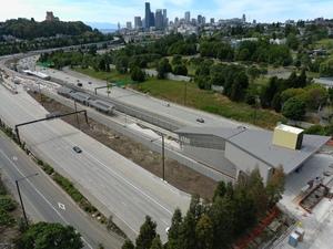 Judkins Park Station, view four (East Link aerial tour)