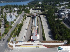 Mercer Island Station, view one (East Link aerial tour)