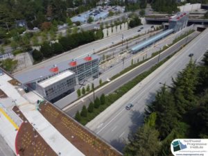 Mercer Island Station, view two (East Link aerial tour)