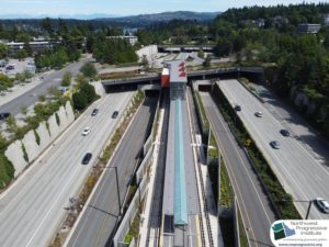 Mercer Island Station, view three (East Link aerial tour)