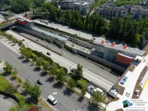 Mercer Island Station, view four (East Link aerial tour)