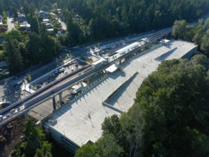 South Bellevue Station, view two (East Link aerial tour)