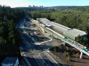 South Bellevue Station, view three (East Link aerial tour)
