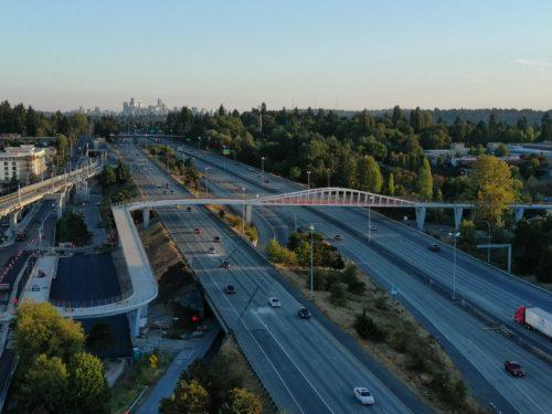 SDOT's pedestrian and bicycle bridge at Northgate