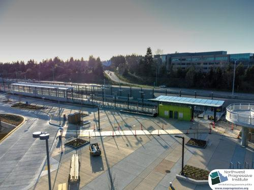 Overlake Village Station view two (East Link aerial tour)