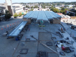 Bellevue Downtown Station, view one (East Link aerial tour)